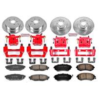 Power Stop KC4078 1-Click Performance Brake Kit with Caliper, Front & Rear