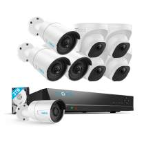 Reolink 5MP 16CH POE Security Camera System, 8pcs 5MP PoE Cameras with 16 Channel PoE NVR Recorder, Pre-Installed 3TB Hard Drive, Waterproof for Outdoor Indoor Use, 24/7 Recording,100ft Night Vision