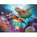 Norbi Embroidery Painting with Diamonds Turtle Couple Diamond by Number Kits Rhinestone Painting Cross Stitch Kit Home Wall Art Decor for Kids Adult Beginner