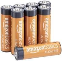 AmazonBasics AA 1.5 Volt Performance Alkaline Batteries - Pack of 8