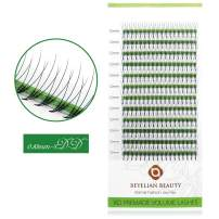 BEYELIAN Beauty Premade Volume Eyelash Extensions D Curl 0.10mm Pre made 3D Fans Lashes Individual Eyelashes for Volume Sets Glue Bonded Knot-free (12mm)
