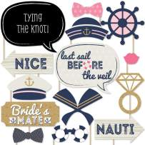 Big Dot of Happiness Nautical Bachelorette - Last Sail Before the Veil Bachelorette Party Photo Booth Props Kit - 20 Count