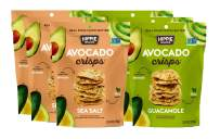 Hippie Snacks Avocado Crisps, Variety Pack, 3 Sea Salt, 3 Guacamole