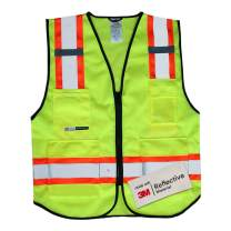 Salzmann 3M Multi-Pocket Safety Mesh Vest   High Visibility Reflective Mesh Vest   Made with 3M Reflective Material   Meets ANSI/ISEA107