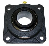 "Sealmaster MSF-31 Medium Duty Flange Unit, 4 Bolt, Regreasable, Felt Seals, Setscrew Locking Collar, Cast Iron Housing, 1-15/16"" Bore, 6-3/8"" Overall Length, 5-1/8"" Bolt Hole Spacing Width, 13/16"" Flange Height, ±2 Degrees Misalignment Angle"