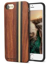 YFWOOD Compatible for iPhone 7 Wood Case, Real Wood Pattern High Impact Durable Shockproof Heavy Duty Back Protective Cover for iPhone 7/8 SE 2020 4.7 Inch