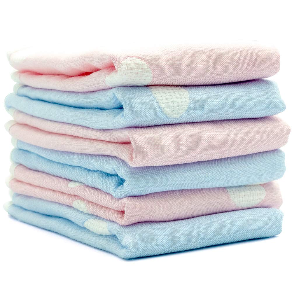 """Baby Muslin Washcloths and Bamboo Cotton Towels, Soft Absorbent Face Wipes