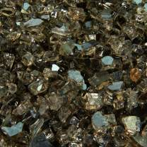 Bronze - Fire Glass for Indoor and Outdoor Fire Pits or Fireplaces | 10 Pounds | 1/4 Inch