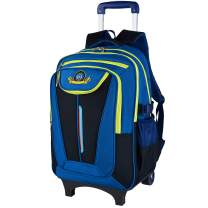 Rolling Backpack, School Backpack With Wheels, COOFIT Back To School Bookbag For Boys And Girl (Blue)