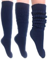 Women's Extra Long Heavy Slouch Cotton Socks Size 9 to 11