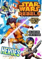 Bendon Publishing Star Wars Rebels Sticker Scene Plus Book to Color