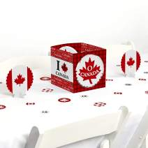 Big Dot of Happiness Canada Day - Canadian Party Centerpiece & Table Decoration Kit