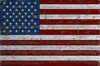 Distressed American Flag (9x12 Art Print, Wall Decor Travel Poster)