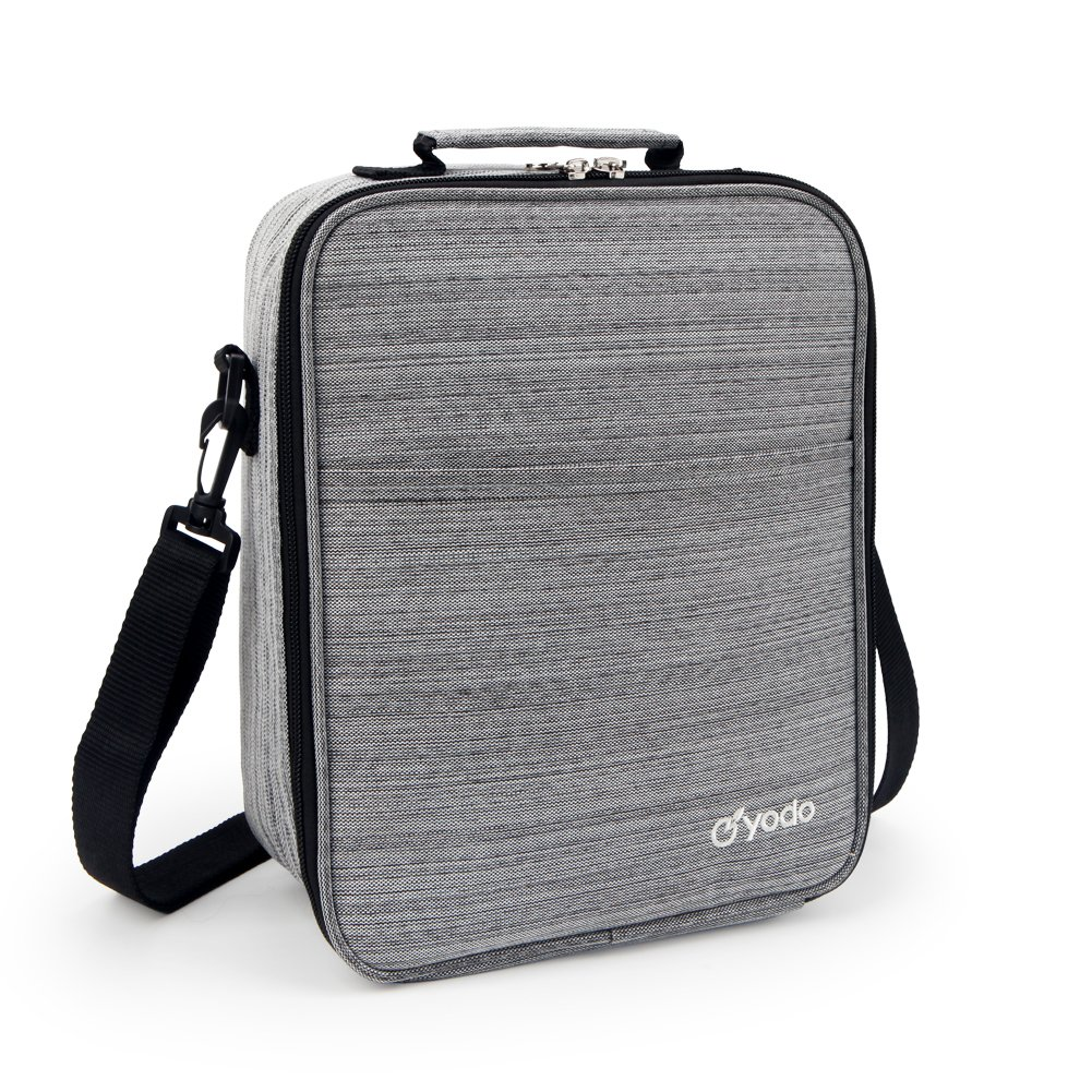 yodo Reusable Bag Tote Large Insulated Box for Adults Men 25% Larger Storage, Ideal for Meal Prep, Everyday Lunch to Work or School, Grey, 9''x4.5''x11'', Gray