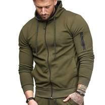 Rela Bota Men's Fashion Hoodies Sweatshirt Full-up Pullover Zip Stitching Sport Jacket with Pocket