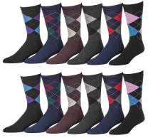 Yacht & Smith Mens Fashion Designer Dress Socks, Cotton Blend, Textured Design Premium Knit