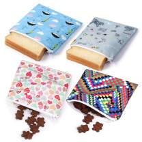 Reusable Sandwich bags Snack Bag Dishwasher Safe Lunch Baggies for Kids(4 BOL)