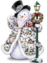 DIY 5D Diamond Painting Kit, Square Diamond Cross Stitch Christmas Cute Snowman Embroidery Art Craft for Canvas Wall Decor