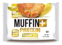 Bake City Muffin Plus Protein | 16g Protein in Each Protein Muffin | 4oz Each, 12 Pack (Banana Nut)