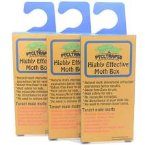 Powerful Moth Traps for Clothes Moths   3 Packs, Highly Effective Attractant Casemaking, Carpet, Webbing Moth, Pro Cloest Essentials Get Rid of Wool Moths with Natural Safe and Odor-Free Natural Glue