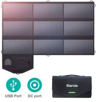 GIARIDE 60W 18V Foldable Sunpower Solar Panel Charger 5V USB/18V DC Output, Portable Power Pack for Laptop, Notebook, Tablet, iPad, iPhone, Samsung, Car/Boat/RV Battery, Hiking, Climbing, Camping