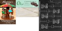 Cybrtrayd 'Corset Lolly' Dads and Moms Chocolate Candy Mold with 25 4.5-Inch Lollipop Sticks and Chocolatier's Guide