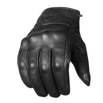 Men's Premium Leather Street Motorcycle Protective Cruiser Biker Gel Gloves M