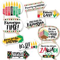 Big Dot of Happiness Funny Happy Kwanzaa - African Heritage Holiday Party Photo Booth Props Kit - 10 Piece