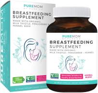 Organic Breastfeeding Supplement - Increase Milk Supply with Herbal Lactation Support - Aid for Mothers - Lactation Supplement - Organic: Fenugreek Seed, Fennel & Milk Thistle - 60 Vegan Capsules