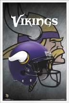 """Trends International NFL Minnesota Vikings - Helmet, 22.375"""" x 34"""", White Framed Version"""