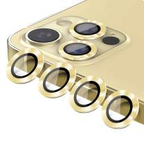 """[6 Pack]Camera Lens Protector for iPhone 12 Pro Max HD Tempered Glass Scratch-Resistant Easy Installation Full Camera Lens Protection for iPhone 6.7"""" Gold"""