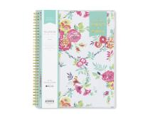 "Day Designer for Blue Sky 2018-2019 Academic Year Weekly & Monthly Planner, Flexible Cover, Twin-Wire Binding, 8.5"" x 11"", Peyton White Design"