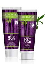 B Like Bamboo Silky Body Wash | Ultra-Nourishing and Soothing Natural Lathering Body Cleanser | Body Care for Sensitive and Dry Skin | Vegan | Sulfate Free | Paraben Free (Pack of 2)