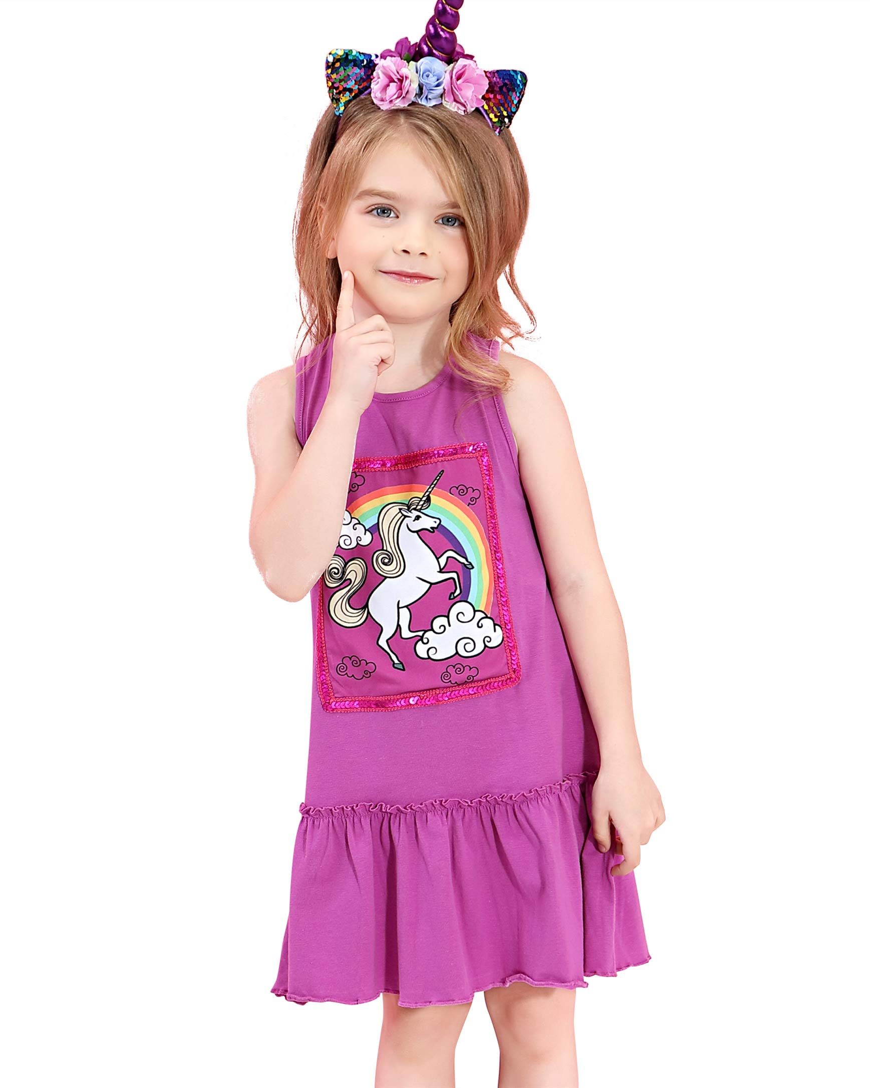 Liliane Girls Unicorn Dress 2t Toddler Girls Dresses 4t for Toddle A178-23Y