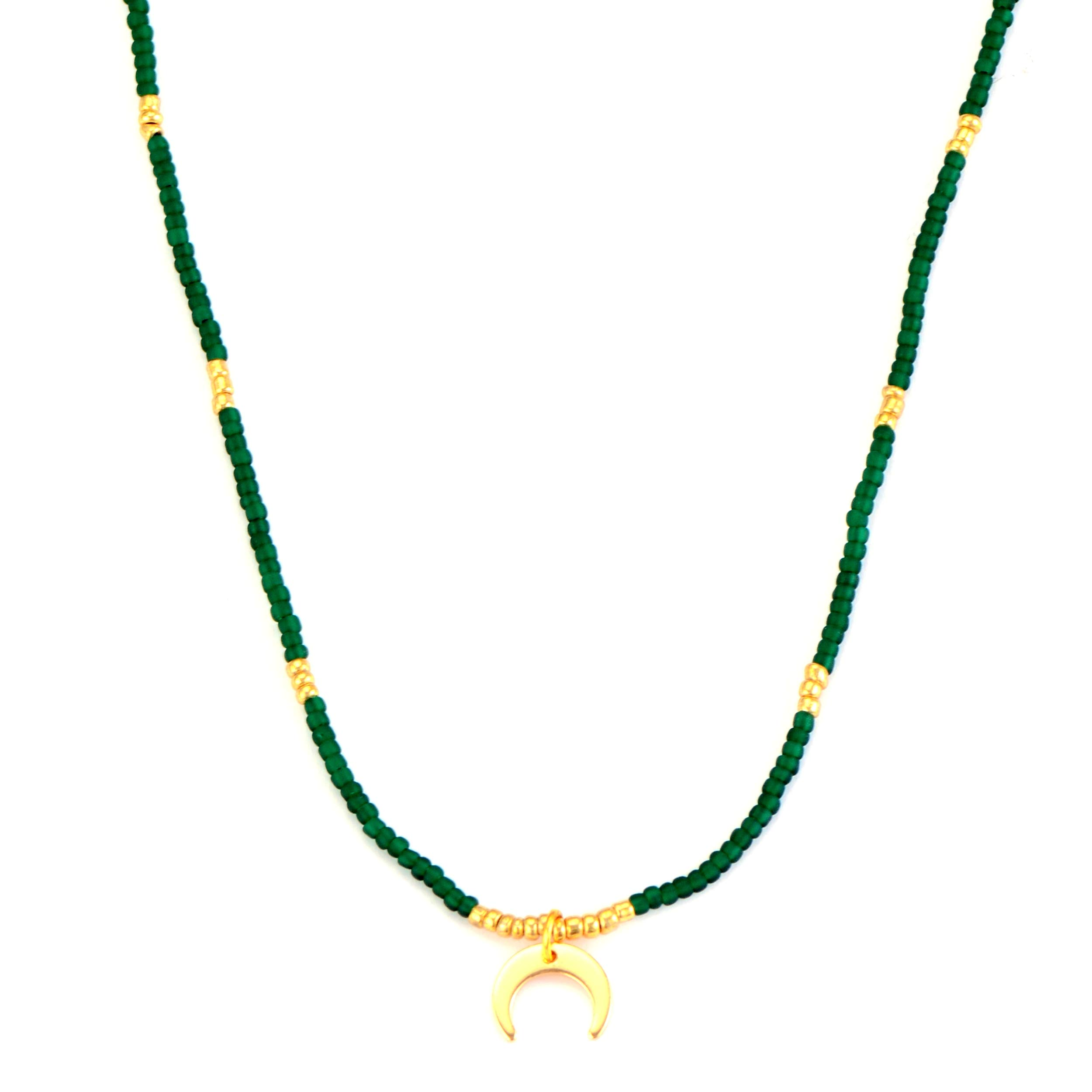 SUKIBOHO Art Gold Charms Seed Beads Choker Necklaces for Women