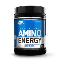 Optimum Nutrition Essential Amino Energy, Blue Respberry, Keto Friendly BCAAs, Preworkout and Essential Amino Acids with Green Tea and Green Coffee Extract, 65 Servings