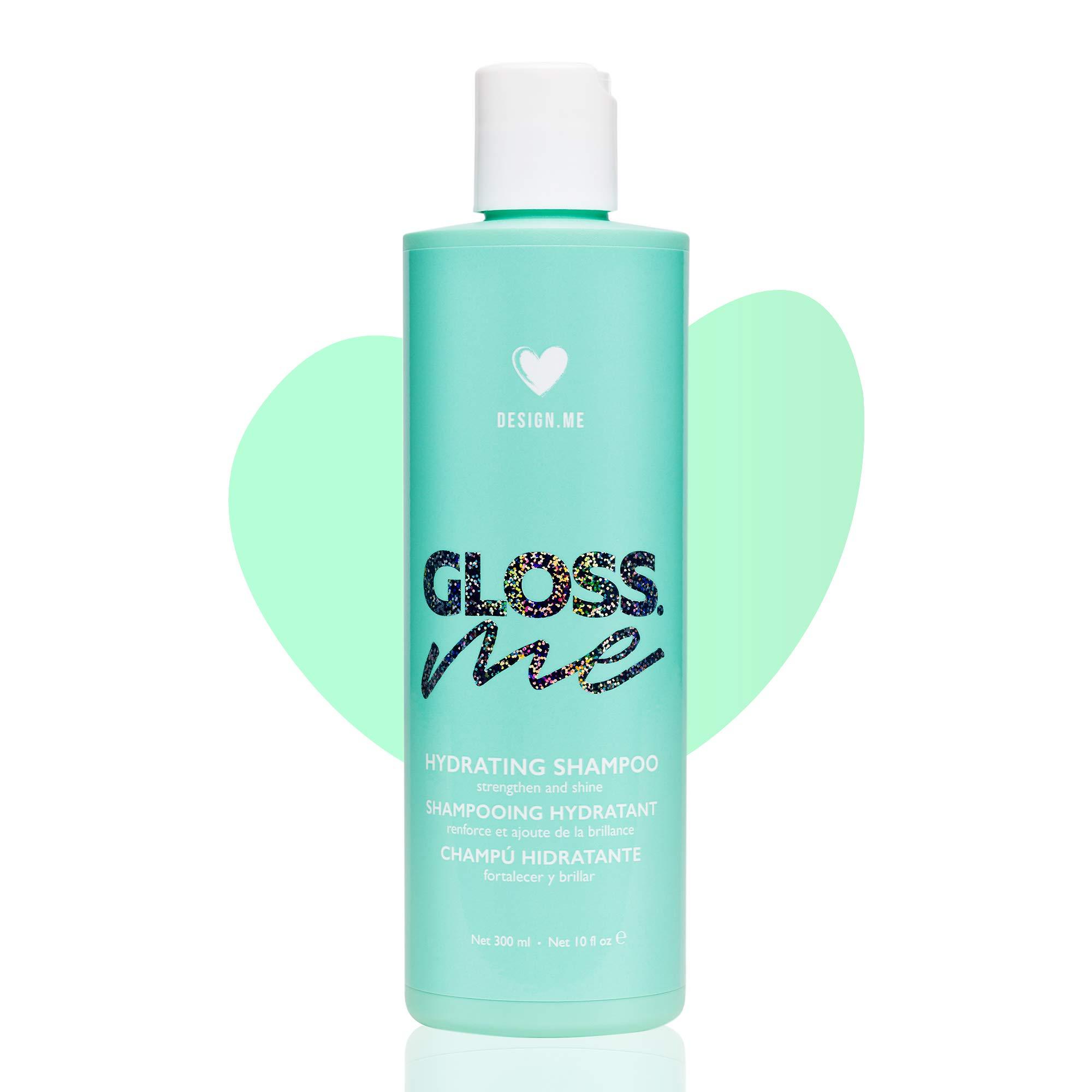 Gloss.ME Hydrating Shampoo, Natural Shampoo with Hemp Oil and Argan Oil, Moisturizing Shampoo for Strong, Soft and Shiny Hair, Sulfate Free Shampoo, Vegan - Design.ME (300ml)