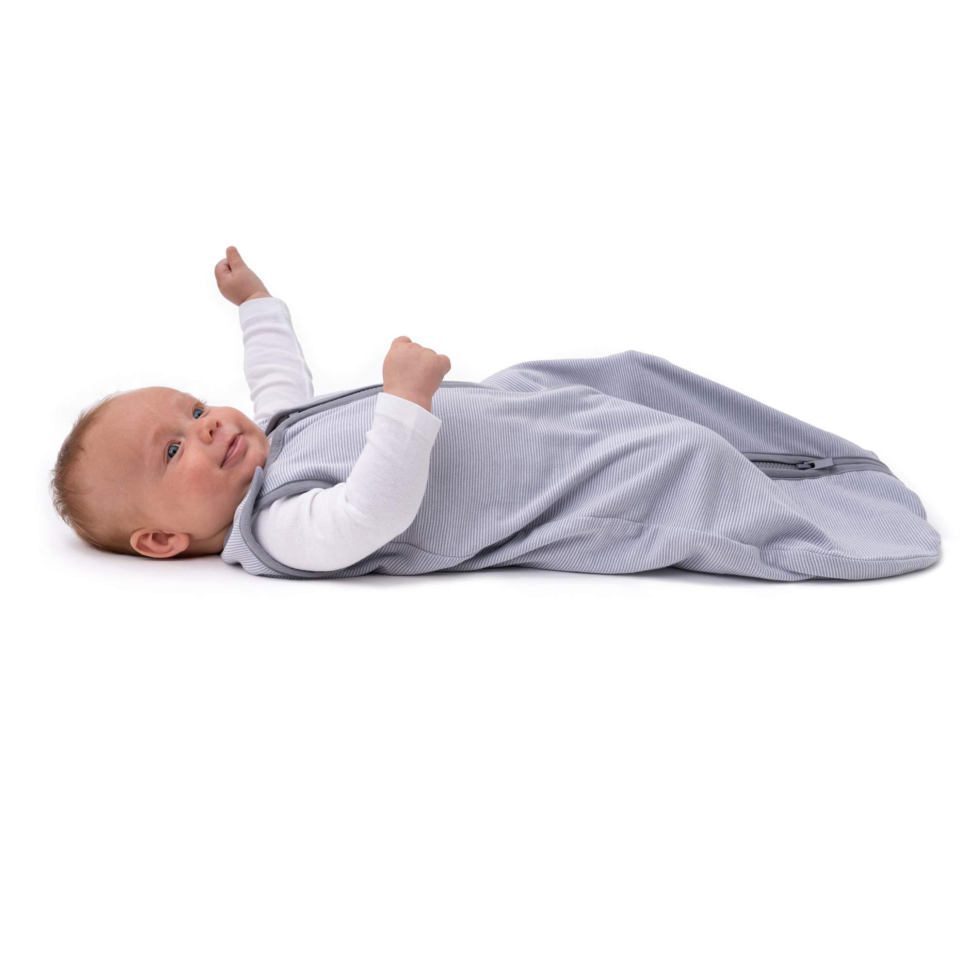 baby deedee Sleep Nest Lite Sleeping Bag Sack, Gray Stripes, Medium (6-18 Months)