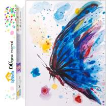 Dylan's Cabin DIY 5D Diamond Painting Kits for Adults,Full Drill Embroidery Paint with Diamond for Home Wall Decor(butterfly/12x16inch)