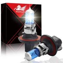 Win Power H13 High Brightness Halogen Headlight Bulb 60W 55W 5500K, Pack of 2