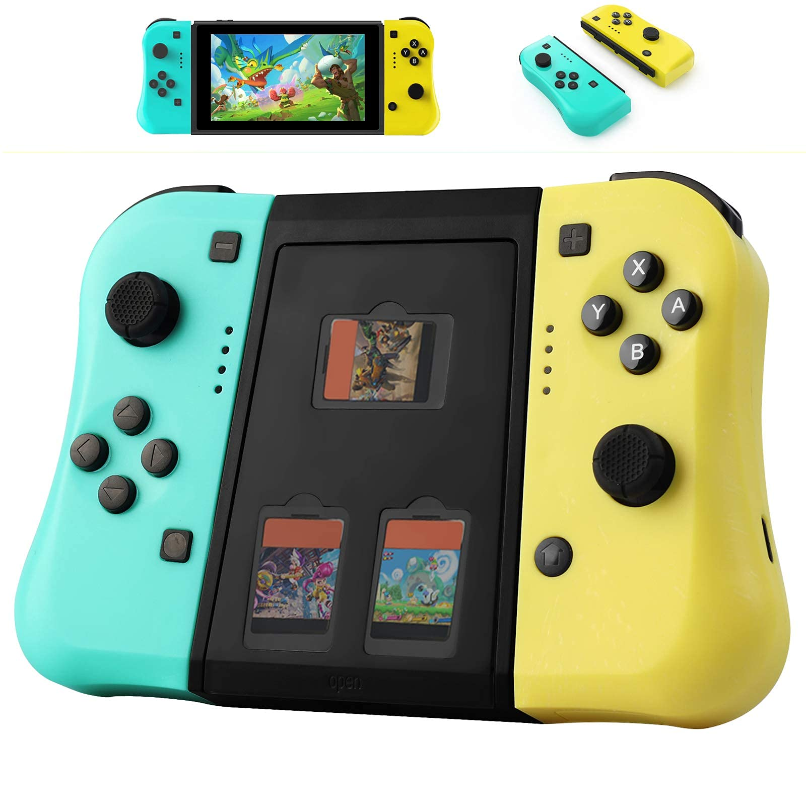 JAMSWALL Joy Pad Controller for Nintendo Switch, Replacement Switch Controller Joycon Support Turbo/6-Axis Gyro/Dual Shock