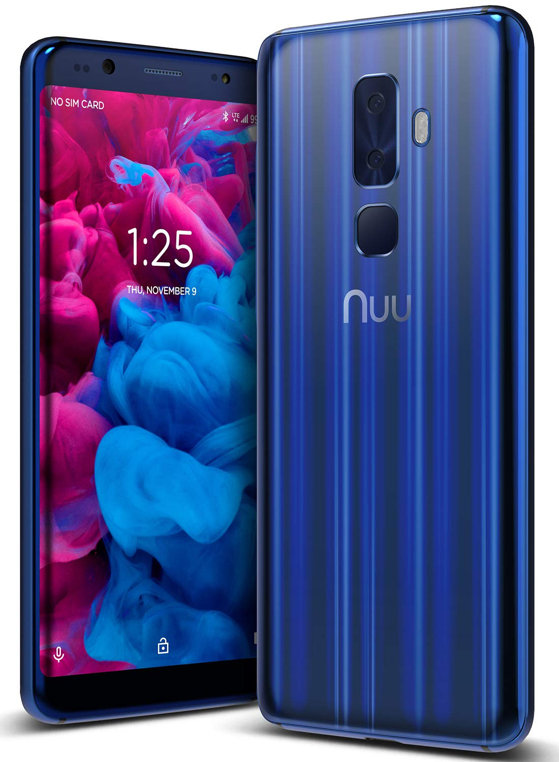 """NUU Mobile G3 Unlocked Cell Phone 64GB + 4GB RAM - 5.7"""" Android Smartphone - Sapphire Blue"""