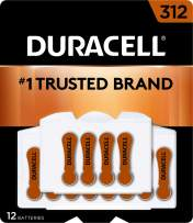 Duracell - Hearing Aid Batteries Size 312 (Brown) - long lasting battery with EasyTab for ease of installation - 8 count