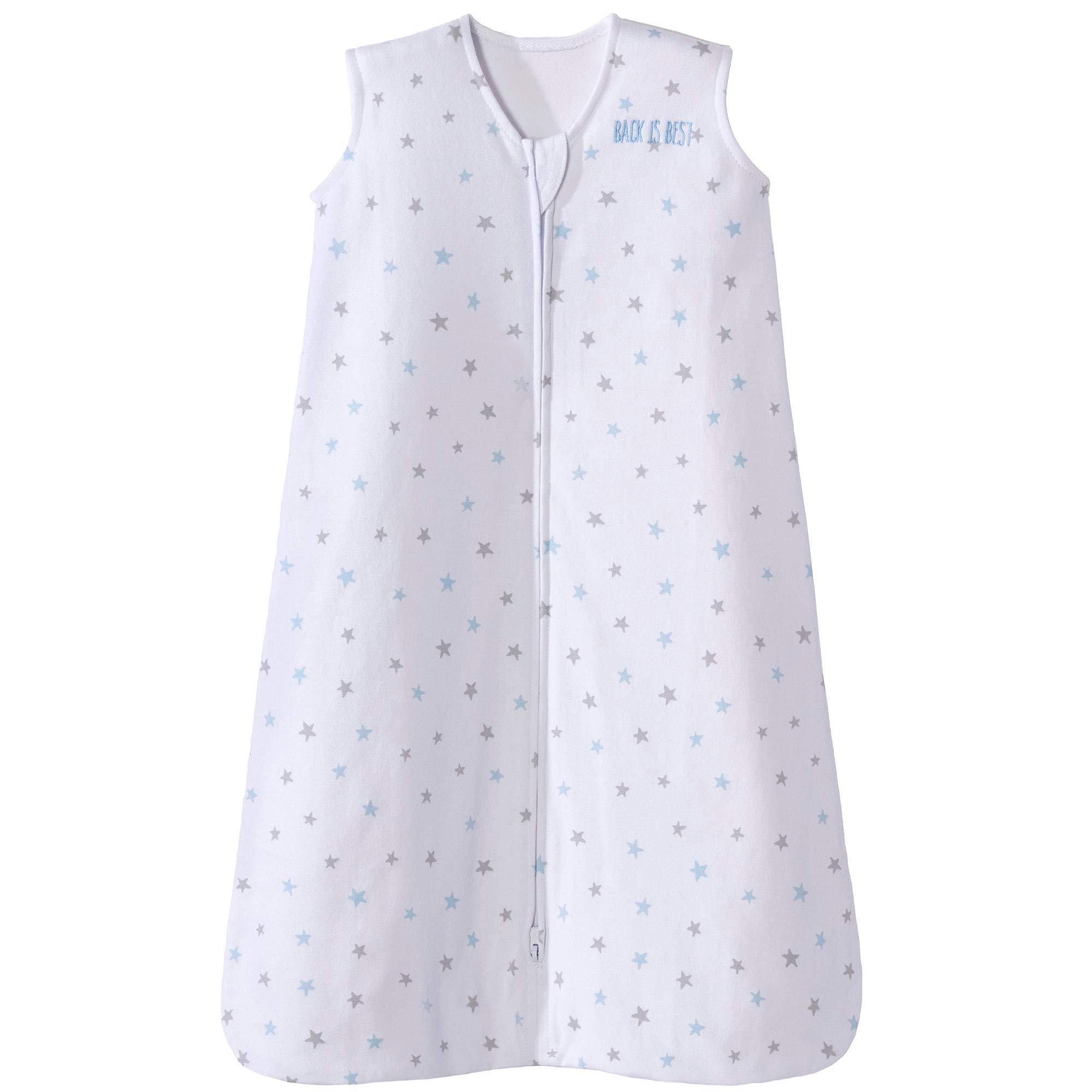 Halo Sleepsack Cotton Wearable Blanket, Blue Stars, Large