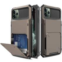 Yunerz Compatible iPhone 11 Pro Max Case, iPhone 11 Pro Max Wallet Dual Layer Protective Case with Card Holder Slot for iPhone 11 Pro Max 2019 6.5inch(Black)