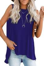 Uusollecy High Low Hem Tank Tops for Women Work Casual Flowy Tops Sleeveless Summer Shirt Loose Fit
