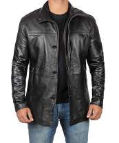 Mens Black Leather Jacket | Real Lambskin Jackets Car Coat
