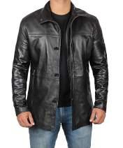 Mens Black Leather Jacket   Real Lambskin Jackets Car Coat