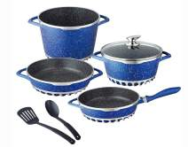 KUNG FU MASTER 7PC CYCLONE COOKWARE SET (blue)