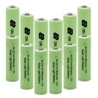 QBLPOWER 1.2V AA Ni-cd 800mAh 2A Solar Light Rechargable Batteries Cell for Garden/Lawn/Sidewalk Lamp (12PCS AA800mAh)